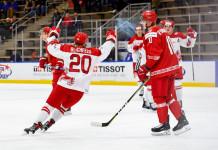 МЧМ: Беларусь в основное время проиграла Дании в первом матче, побеждая за полминуты до конца третьего периода
