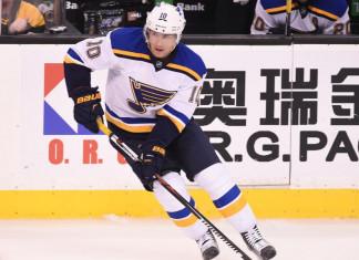НХЛ: Нападающий «Сент-Луиса» пропустит остаток сезона из-за разрыва почки