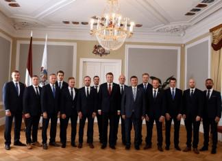 Сборная Латвии побывала на приеме у президента страны