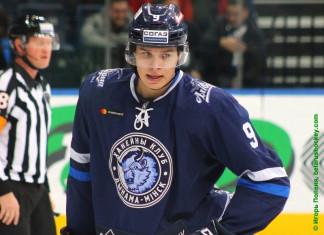 «Динамо-Минск»: Белорусский нападающий забросил первую шайбу в карьере в КХЛ