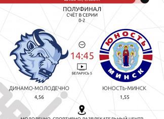 Афиша дня: «Юность» - «Динамо-Молодечно» и тур в Экстралиги «Б»