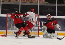 Видео: Сборная Беларуси (U-18) отгрузила пять шайб Канаде, однако уступила в овертайме