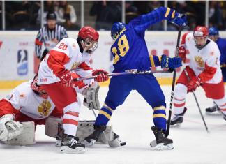 Сборная Швеции в овертайме дожала Россию и выиграла ЮЧМ-2019