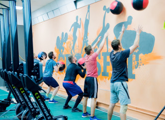 Фото: ХК «Витебск» провёл тренировку в фитнес-клубе