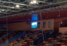 На домашней арене «Могилева» установили три новых светодиодных экрана