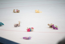 Видео: Страсти хоккейных болельщиков на «Мишкопаде» в Солигорске